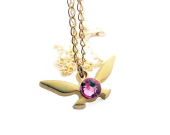 Zelda Navi Necklace - Gold plated brass - Handmade