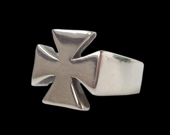 Maltese cross ring - Sterling Silver Templar Maltese Cross Ring -  ALL SIZES