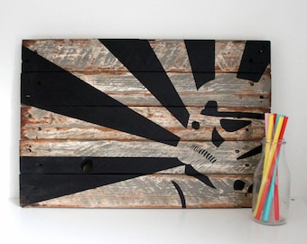 Stormtrooper Art - Star Wars Painting - Sci Fi Art - Gift for Geeks - Man Cave Decor - Christmas Gift - Reclaimed Wood - Pallet Wood
