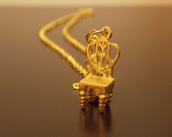 Fairy Chair Necklace- Gold or Silver