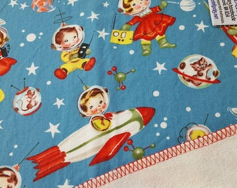 CLOTH WIPE - 3 pack - Vintage,Space, Astronaut,Retro Baby, Bamboo Wipes,Baby Washcloth,Unpaper,Reusable  Washable Towel,Napkin, Baby Shower