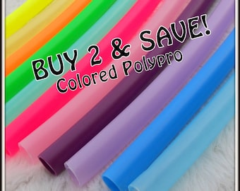 """Buy TWO & SAVE! Colored Polypro Hoops - Available in 3/4"""" and Some in 5/8"""" THiN!"""