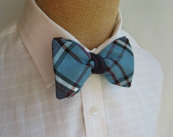 Self Tie Bow Tie, Mens Blue and Mauve Freestyle Bow Tie, RCAF Bow Tie, RCAF Cuff Links, RCAF Self Tie Bow Tie, Royal Canadian Air Force Tie