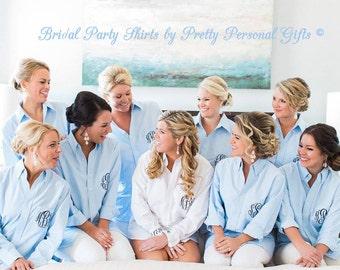 Bridesmaids Shirt - Bridesmaid Gift -  Bridal Party Gifts - Monogram Shirt for Bridesmaids - Wedding Party Oxford Shirt