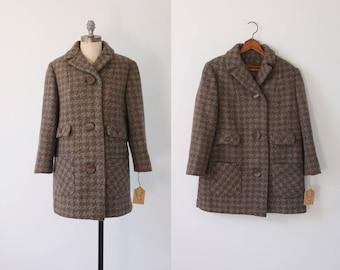WINTER SALE 30% OFF! vintage 60s wool coat   vintage tweed 60s wool coat   1960s tweed wool coat   vintage 60s half coat   short tweed coat