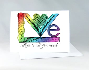 Gay Wedding Card, Gay Anniversary Card, Lesbian Wedding Card, Gay Engagement Card, Romantic Card, Gay Wedding Shower, LGBT Card 1156A