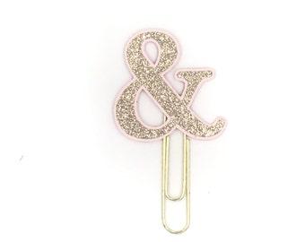 Rose Gold Ampersand Paper Clip