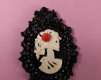 Lady skeleton pendant