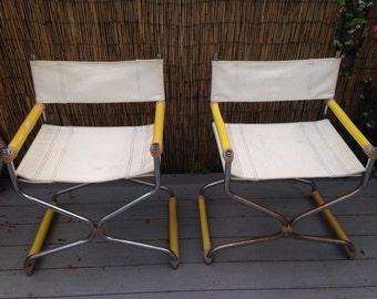 1960u0027s Directoru0027s Chairs Love American Style & Naugahyde chair | Etsy