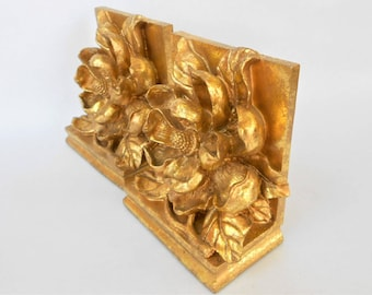 Bookends,Book Ends,Magnolia Bookends,Geode Bookends,Gold Gilt Bookends,Bookends Set,Bookend Set,Nature Bookends,Rustic Bookends,Pair Bookend