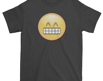 Color Emoticon - Grinning Smile Mens T-shirt