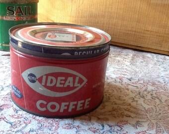 Acme Ideal coffee tin