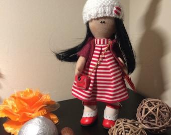 Handmade doll, Standing Tilda style 20cm