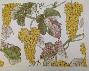 Novelty Botanical Fabric Cotton Toile Craft Cloth Grapes Pillow Material