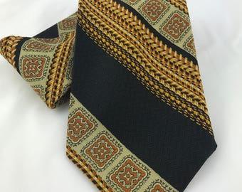 Vintage Beau Brummell Mr John Tie, Beu Brummell Necktie, 70's Necktie, Wide Necktie, Wide Tie, Retro Necktie, Hipster Tie, Mr John Necktie