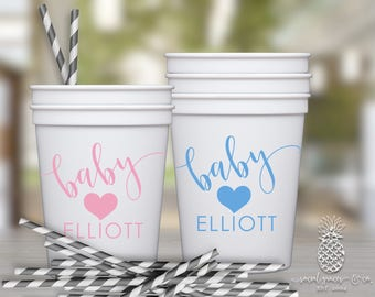 Baby Shower Party Favor Cups | social graces and Co.