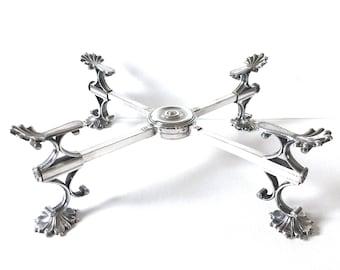 19th Century Sheffield Silver Plate Dish Cross