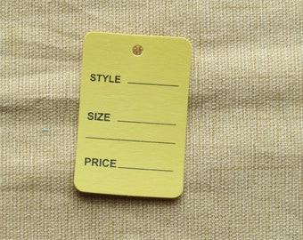 Yellow Merchandise Tags
