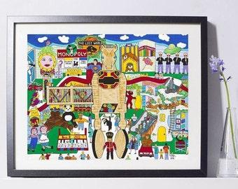 Children's Toys Art Print - Children's Gift - NYC Art Print - Pat Singer's New York