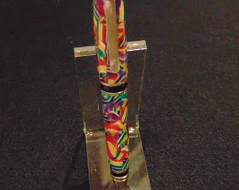 Confetti Acrylic Big Ben Cigar Twist Pen Chrome