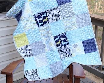 Dachshund Baby Quilt, Puppy baby quilt, Dog baby quilt, Crib size dog quilt, Ready to ship