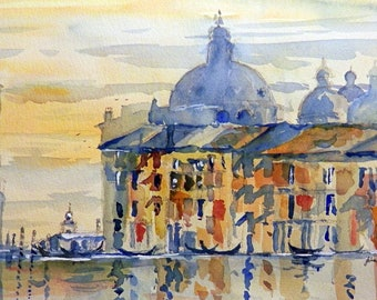 Venice dusk- from a watercolour by John Menage