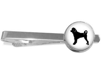 Portugese Water Dog Breed Portrait Cuff Links or Tie Clip