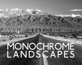 Monochrome Landscapes Lightroom Presets - 10 B&W Presets - Black and White Lightroom Presets for 4, 5, 6 and CC
