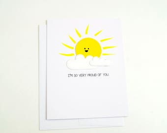 Proud of You Greeting Card