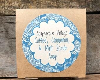 Coffee, Cinnamon, & Mint Scrub Soap