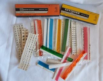 Vintage File Tabs, Planner Tabs, Planner Tabs, Ezyindex Acetate Tabs, Index Tabs, Index markers,