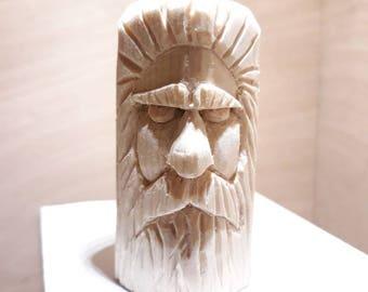 Pine Hand carved Wood Spirit