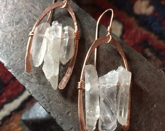 Modern Quartz Earrings