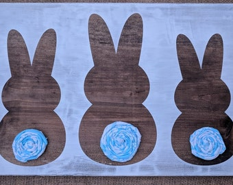 Bunny Booty Wood Sign
