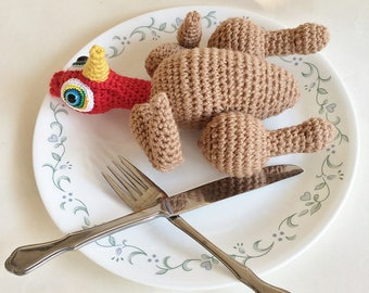Crochet Pattern, Toy Pattern, Amigurumi Pattern, Doll Pattern, Roast Turkey Doll