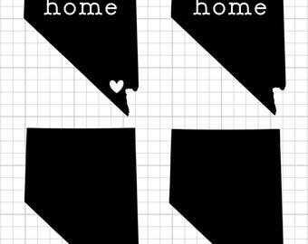 "Vinyl Decal - Nevada ""Home"" & Heart"