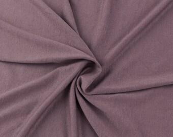 Dark Mauve Medium Weight Rayon Spandex Jersey Knit Fabric by the Yard - 1 Yard Style 409