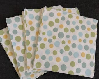 "Polka Dot Charm Pack 5"" Quilting Squares- 42 Pieces"