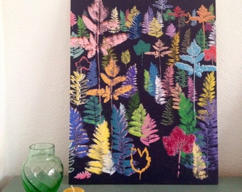 """Wooden print """"Fantasy Forest"""" 
