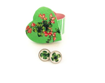 Four Leaf Clover Earring and Gift Box Set