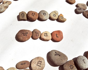 Letter stones anagrams, set of 100