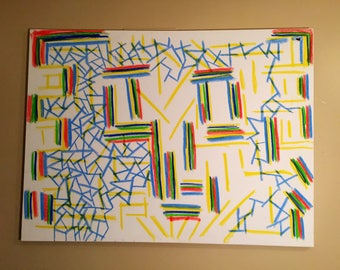 I have No Mouth and... Abstract Painting 36x48in.