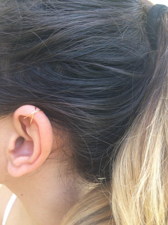 Rosa gold Ohr-Manschetten kein piercing Ohr Knorpel Ohr