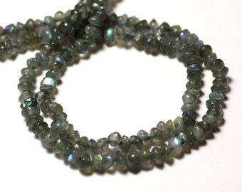 Stone - Labradorite Rondelles 4-5mm - 8741140012141 abacus beads 20pc-