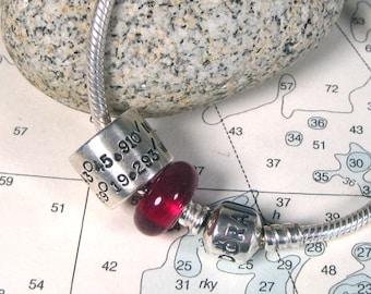 Sterling Silver Pandora Style Custom Bead
