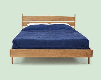 Solid Wood Bed Frame - White Oak