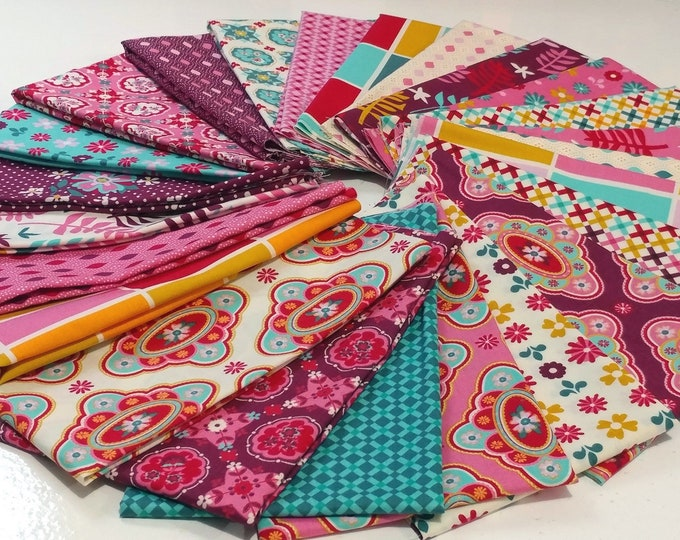 Featured listing image: Domestic Bliss, 24 Fat Quarters by Liz Scott for Moda Fabrics, Quilting Fabric Scraps
