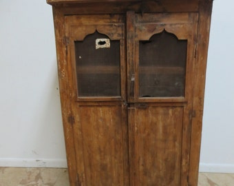 Antique Primitive architectural salvage Hutch China Cabinet Cupboard m M