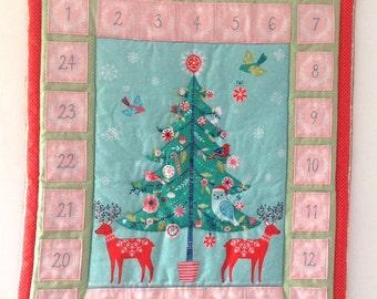 Advent Calendar Quilted Winter Wonderland 25 Numbered Pockets