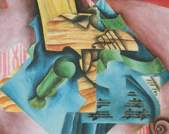 Juan Gris: Violin and Glass. Fine Art Print/Poster. (003122)